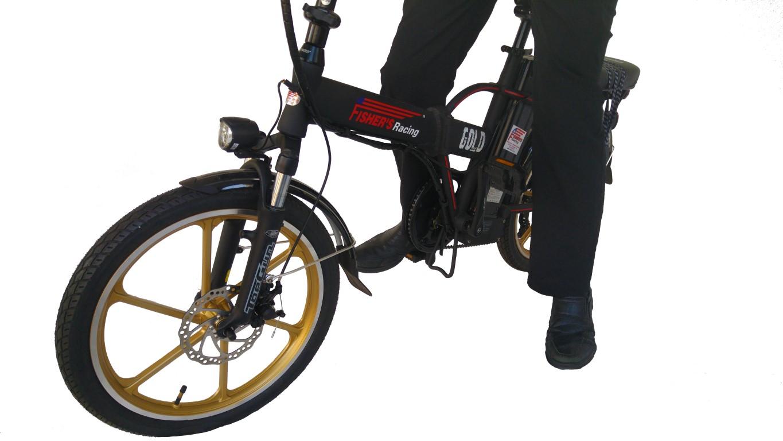 אופניים חשמליות מתקפלות פישר גולד מגנזיום  2016 Fisher Gold Mag