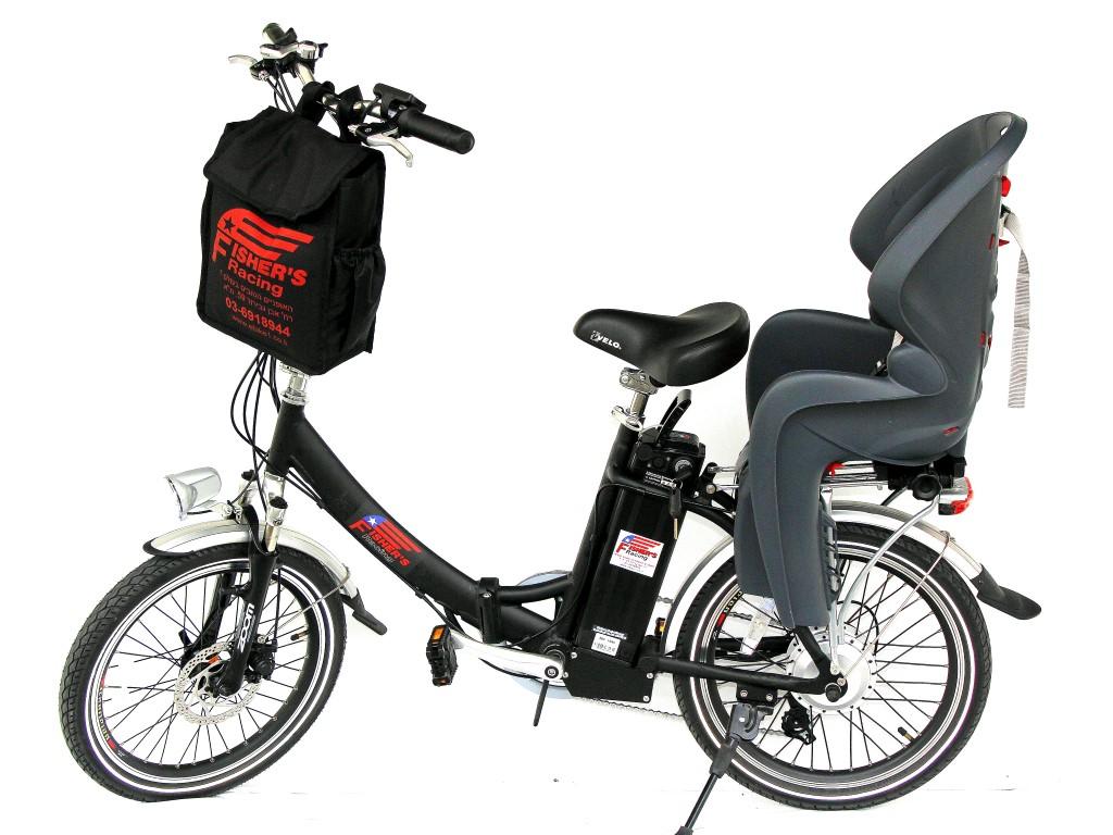 אופניים חשמליות מתקפלות פישר דגם אקספרס Fisher express