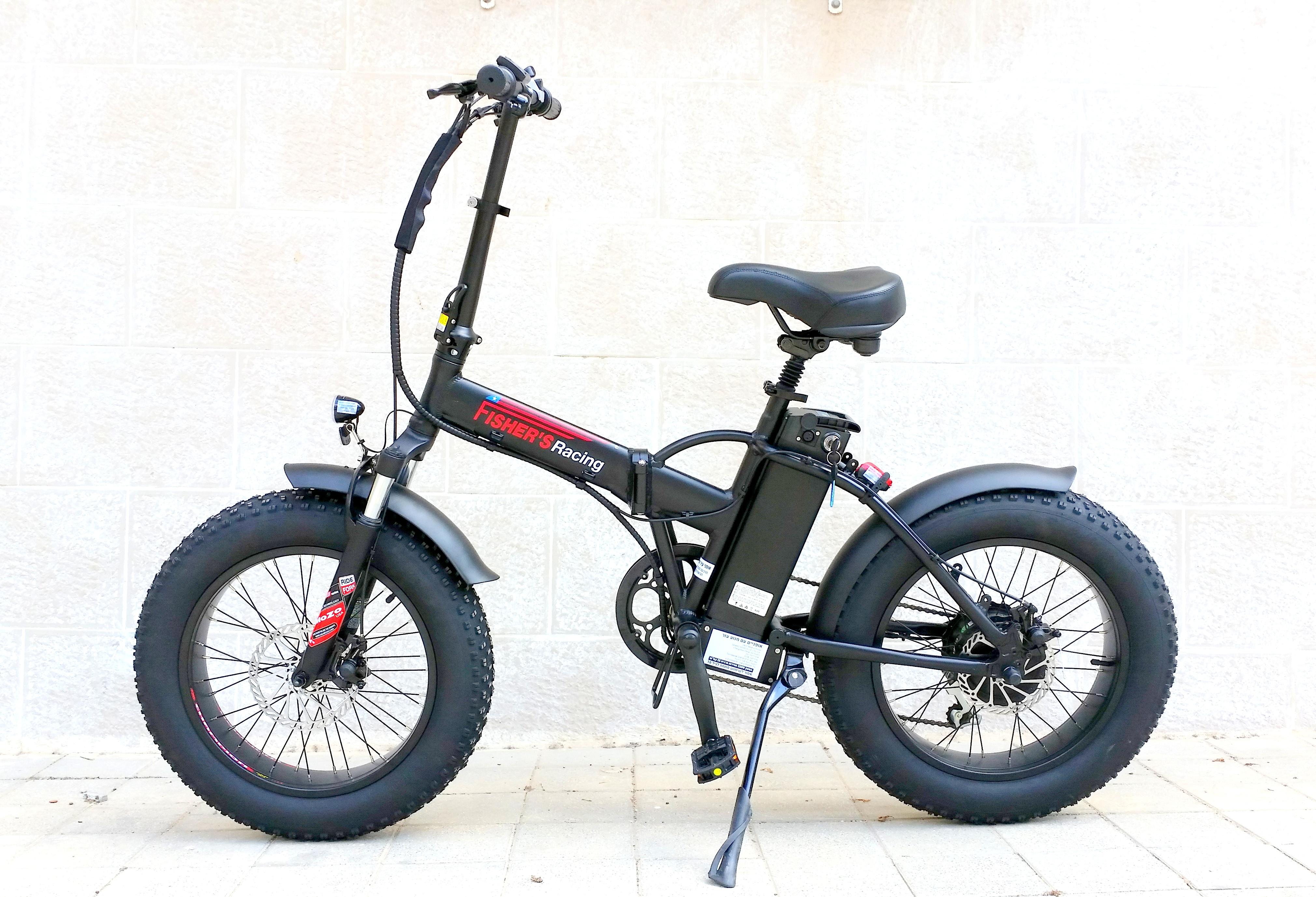 אופניים חשמליים גלגלי בלון פישר 48V FISHER BALOON